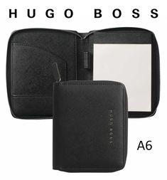 HUGO BOSS - luxusný zápisník A6 (na zips) - saffiano (black) Hugo Boss, Zip, Wallet, Black, Fashion, Luxury, Moda, Black People, Fashion Styles