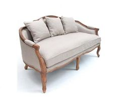 French linen and oak lounge. Louis lounge.