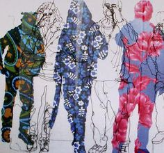 drawings of love Art Textile, Textile Artists, Textiles, Rosie James, Tracing Art, Stitch Drawing, Art Sketchbook, Embroidery Art, Fabric Art