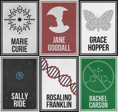Women Scientists - Minimal Posters