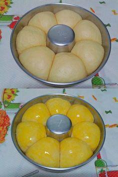 Bread Recipes, Cake Recipes, Dessert Recipes, Cooking Recipes, Chocoflan Recipe, Brazillian Food, Easy Banana Bread, Portuguese Recipes, Bread Rolls