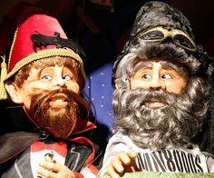 Eugène et Adélor pendant le spectacle de la Masques & Parade