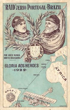 Mapas histricos brasil colnia brazil pinterest history and first crossing of the south atlantic by plane from lisbon to rio de janeiro lusitania hydroplane piloted by two navy officers sacadura cabral and gago fandeluxe Choice Image