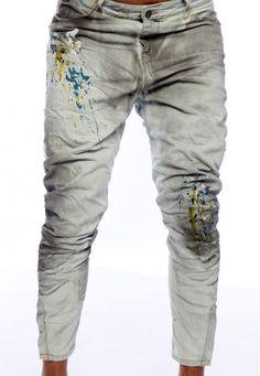 dirty paint denim