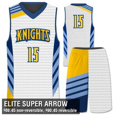 Design Your Own Sublimated Basketball Uniforms. Your team's limit is not the sky & with the Elite Super Arrow, the same rules apply! Price includes it all. Basketball Tickets, Best Basketball Shoes, Basketball Birthday, Basketball Goals, Basketball Videos, Sports Uniforms, Team Uniforms, Basketball Uniforms, Basketball Jersey