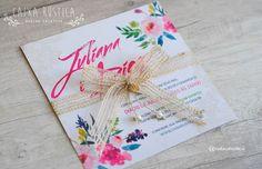 Caixa Rústica: Convite Doce Encanto   〰 Inove com a Caixa Rústica e surpreenda convidados!  ∴ Solicite seu orçamento! www.caixarustica.com  #convite #kraft #casamento #rustico #invitation #rustic #wedding #papelaria #vintage #reciclado #floral #boho #pink #rosa