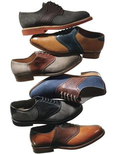 brogue saddle shoes
