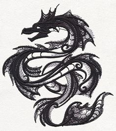 Dark Creatures - Sea Serpent | Urban Threads: Unique and Awesome Embroidery Designs