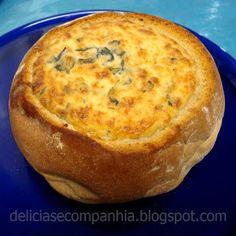 * Delícias e Companhia *: Pão recheado com espinafres