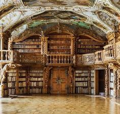 Library of the Abbey in Waldsassen, Bavaria…Inspiration for book lovers and bo. - Library of the Abbey in Waldsassen, Bavaria…Inspiration for book lovers and book worms. Beautiful Library, Dream Library, Library Books, Library In Home, Grand Library, Library Corner, Library Ideas, Photo Library, Future House