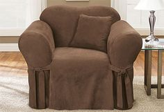 Sure Fit Slipcovers Soft Suede One Piece Slipcovers Chair Slipcovers For Chairs Chair Covers Slipcover Slipcovers
