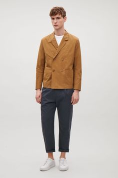 COS | Double-breasted cotton blazer