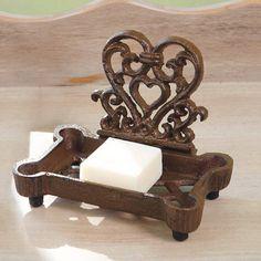 cast iron heart soap dish by dibor | notonthehighstreet.com