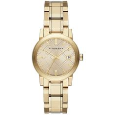 City Goldtone Stainless Steel Bracelet Watch/34MM Polished light goldtone stainless steel link bracelet. Made in Switzerland. - Color: Gold