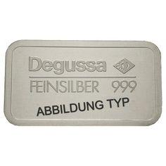 Bundesrepublik Deutschland, 31,1 Gramm (1 Unze) Silberbarren, 31,1 g fein, bfr.: 31,1 Gramm (1 Unze) Silberbarren 31,1 g fein.… #coins