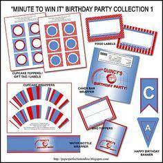 Free Minute To Win It Birthday Party Invitation Dante S 12