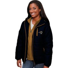 Women's Pro Line St. Louis Rams Ascender Puff 3 in 1 Systems Jacket