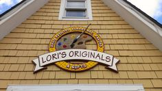 A dimensional building sign that is true to the brand, made for Lori's Originals.