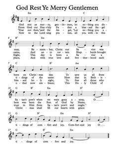 Christmas card And with true love and brotherhood each other now embrace--God Rest Ye Merry Gentlemen Trumpet Sheet Music, Clarinet Sheet Music, Saxophone Music, Music Chords, Recorder Music, Piano Sheet Music, Music Sheets, Guitar Songs, Guitar Chords