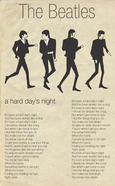 With out u and your love its a hard days night .