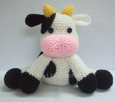 Dairy Cow - Big Finished Handmade Amigurumi crochet