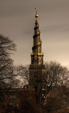 The bell tower of the Church of Our Saviour, Copenhagen, Denmark | by Markus Hoffmann (HalleSaale)