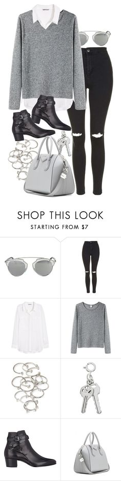 """Untitled #7905"" by nikka-phillips ❤ liked on Polyvore featuring Christian Dior, Topshop, H&M, Base Range, Forever 21, Yves Saint Laurent and Givenchy"