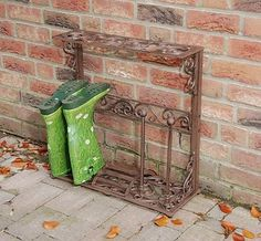 Small Wellington Boot Stand - Wrought Iron