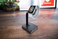 Apple Watch Stand Aluminum Charging Station Holder Leather Charger Docking