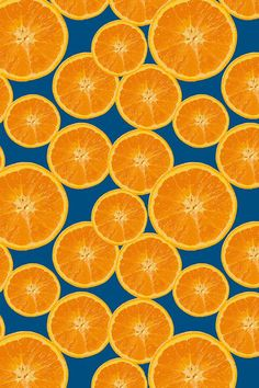 Orange Navy by kociara. Orange slices on a navy blue background. Juicy fruit des… Orange Navy by kociara. Orange slices on a navy blue background. Juicy fruit design on fabric, wallpaper, and gift wrap. Orange Wallpaper, Fabric Wallpaper, Pattern Wallpaper, Wallpaper Aesthetic, Aesthetic Backgrounds, Orange Fruit, Orange Slices, Fruit Fruit, Fruit Party