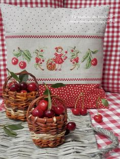 reminds me of some of the vintage things my Grandmother had. Cherry On Top, Cherry Tree, Cherry Blossom, Cherry Cherry, Cherry Hill Park, Diy Broderie, Cherries Jubilee, Cherry Kitchen, Decoupage