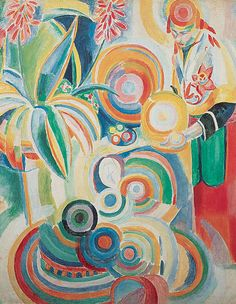 By Robert Delaunay (1885–1941), 1916, Portuguese Woman, oil on canvas. (detail)