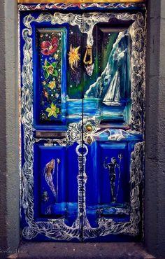 Funchal Madeira Portugal Art Of Structure Doors Painted Doors Cool Doors, Unique Doors, Entrance Doors, Doorway, Front Doors, When One Door Closes, Knobs And Knockers, Door Gate, Jolie Photo