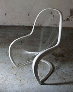 Fifty years ago, Verner Panton designed the first single mold plastic chair with a curvaceous profile called the Panton chair. Since then it has become one