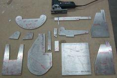 Основные детали корпуса станка с размерами