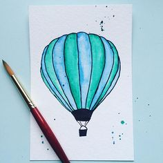 Hot air Balloon! Perfect for a nursery!  Art by Shannon Bezold Instagram: onlybetz