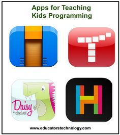 5 Good iPad Apps to Teach Kids Programming ~ Educational Technology and Mobile Learning --- These apps can generate an interest within students about programming through their interactive lessons and activities. Apps For Teaching, Teaching Technology, Educational Technology, Teaching Kids, Computer Class, Computer Science, Coding For Kids, Instructional Technology, Mobile Learning