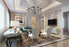 wall ideas for living room | ... interior design living room lighting TV wall 3D | Download 3D House