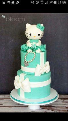Hello kitty Torte grün weiß