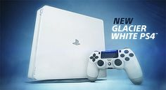 Sony a Anunțat PlayStation 4 Slim în Noua Culoare Glacier White Ps4, Playstation, Sony, Video Game Heaven, Mmorpg Games, Bubble Shooter, Cool Pins, Xbox One, Nintendo Wii