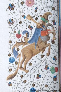 Centaur holds bagpipe | Book of Hours | France, Provence | ca. 1440-1450 | The Morgan Library & Museum