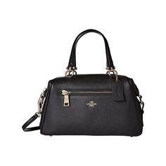 Primrose Satchel Pebble Leather Black satchel bag tote