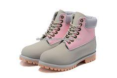 UK Timberland Women 6 Inch Premium Pink Boots Grey and Purple £ 68.79