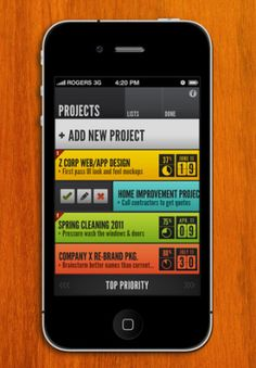 HQ: To Do for iPhone. App by Sleeping Giant Apps, Design by Justin Baker
