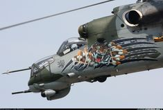 The Czech Republic Air Force Mil Mi-24 helicopter :) Cool paintwork, don't you think?