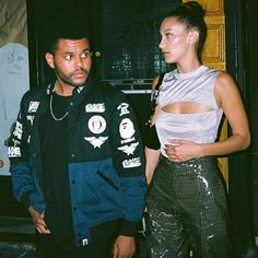 abel really said: 👀 — — — bellahadid gigihadid hadid xo abella theweeknd abeltesfaye explorepage xotillweoverdose Abel And Bella, Bella Hadid Style, Sporty Outfits, Queen, Looks Cool, Night Out, Beautiful People, Celebrity Style, How To Look Better