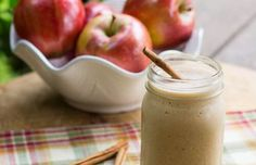 It's apple season, why not try a healthy Caramel Apple Protein Shake? This is a super thick, creamy, and filling protein shake tha. Best Apple Recipes, Fall Recipes, Delicious Recipes, Mint Lemonade, Apple Smoothies, Omega 3, Protein Shakes, Whey Protein, Healthy Treats