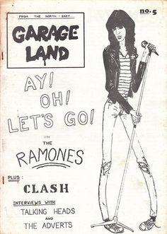 Garage Land - Punk Fanzine 1977 - Joey Ramone Cover by Buzzmusic, via Flickr