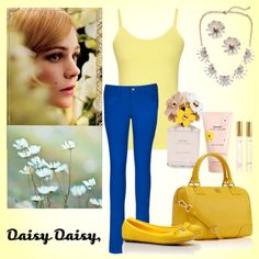 """""""Daisy Daisy"""" by fashion-fixed on Polyvore featuring Long Tall Sally Cami & Jeans"""