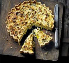 Leek, Ricotta & Gruyère tart - tonight's dinner and it was delicious!! Highly recommend this one :-)
